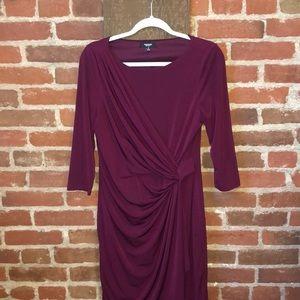 Purple Premise faux wrap dress - comfy & cute!